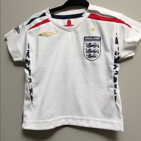 England football jersey baby size